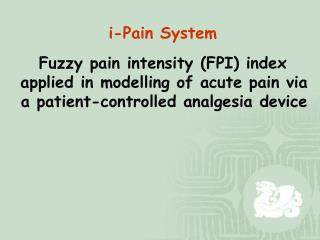 Multifaceted Model of Pain Components