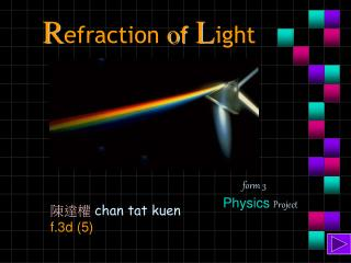 R efraction  o f L ight