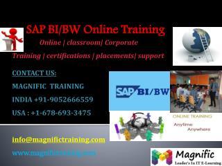 SAP BI/BW ONLINE TRAINING IN AUSTRALIA