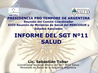 INFORME DEL SGT Nº11 SALUD