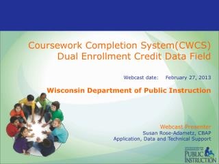 Dual Enrollment Credit