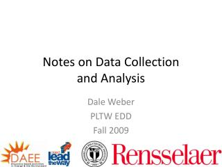 Notes on Data Collection and Analysis