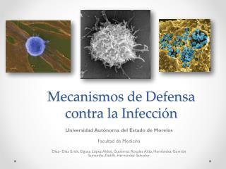 Mecanismos de Defensa contra la Infección