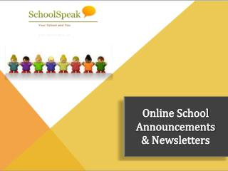 School Online Announcements and Newsletters