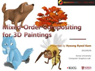 Mixed-Order Compositing for 3D Paintings