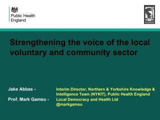 Strengthening the voice of the local voluntary and community sector