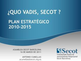 PLAN ESTRATÉGICO 2010-2015