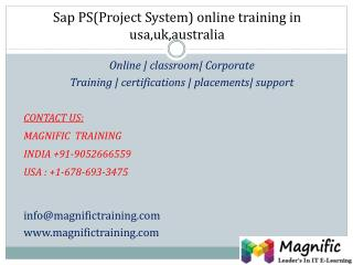 Sap ps(project system)online training in usa,uk,australia