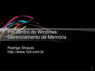 Por dentro do Windows: Gerenciamento de Memória