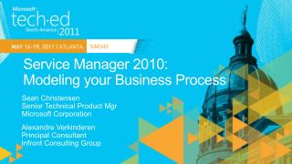 Service Manager 2010: Modeling your Business Process