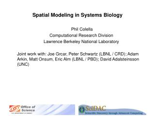 Spatial Modeling in Systems Biology