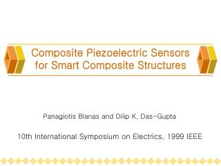 Composite Piezoelectric Sensors  for Smart Composite Structures