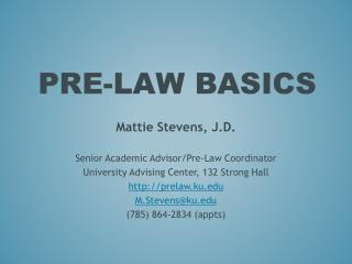 Pre-Law Basics