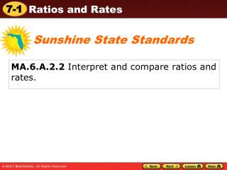 MA.6.A.2.2  Interpret and compare ratios and rates.