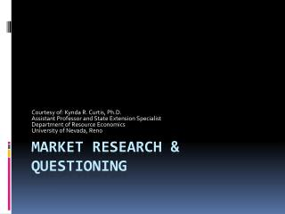 Market Research & Questioning