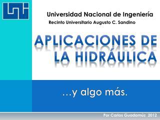 aplicaciones de la hidráulica