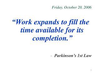 Friday, October 20, 2006