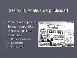 Sesión 8: Análisis de publicidad