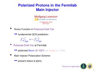 Polarized Protons in the Fermilab  Main Injector