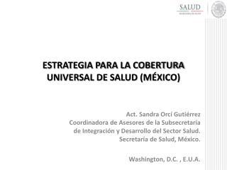 Estrategia para la Cobertura Universal de Salud (México)