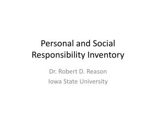 Personal and Social Responsibility Inventory