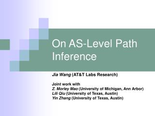 On AS-Level Path Inference