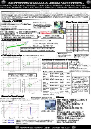 全天 X 線監視装置 MAXI/GSC の封入ガス、 Xe-L 殻吸収端の不連続性の定量的見積もり