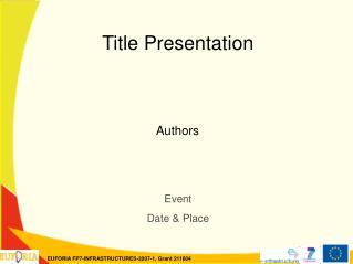 Title Presentation Authors