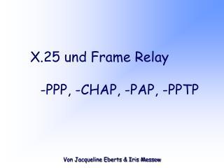 X.25 und Frame Relay