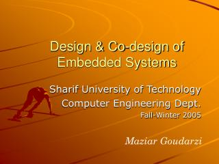 Design & Co-design of Embedded Systems