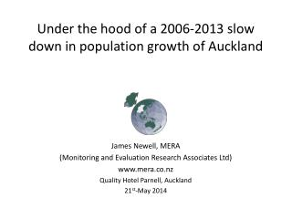 Under the hood of a 2006-2013 slow down in population growth of Auckland