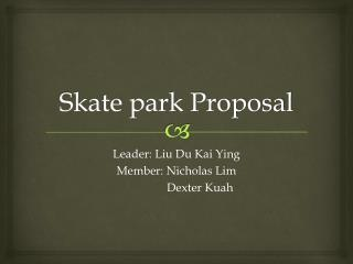 Skate park Proposal