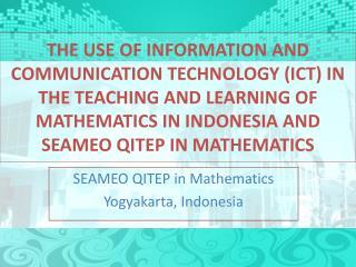 SEAMEO QITEP in Mathematics Yogyakarta, Indonesia