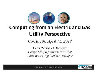 Computing from an Electric and Gas Utility Perspective
