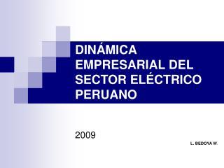 DINÁMICA EMPRESARIAL DEL SECTOR ELÉCTRICO PERUANO
