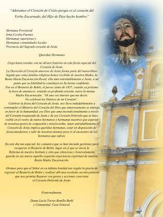 Hermana Provincial    Irma Cecilia Fuentes      Hermanas superioras y