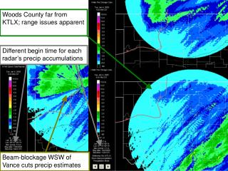 Beam-blockage WSW of Vance cuts precip estimates