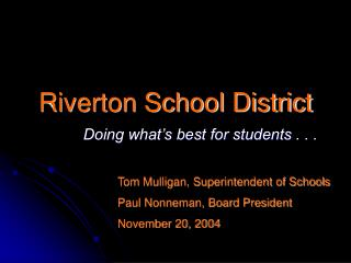 Riverton School District