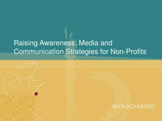 Raising Awareness: Media and Communication Strategies for Non-Profits