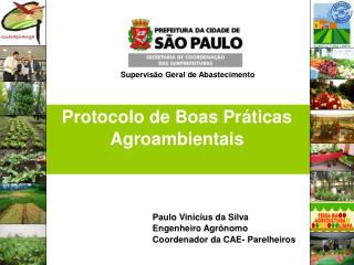 Protocolo de Boas Práticas Agroambientais