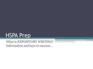 HSPA Prep