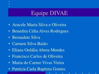 Equipe DIVAE