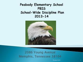 Peabody Elementary School PBIS   School-Wide Discipline Plan  2013-14