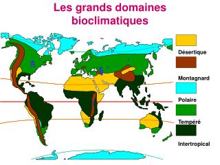 Les grands domaines bioclimatiques