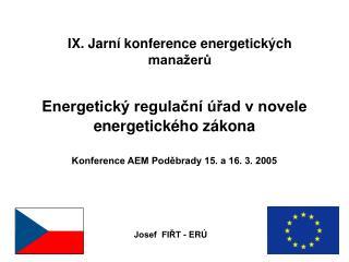 IX. Jarní konference energetických manažerů