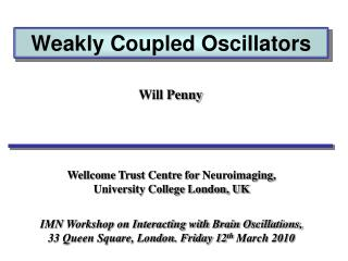 Weakly Coupled Oscillators