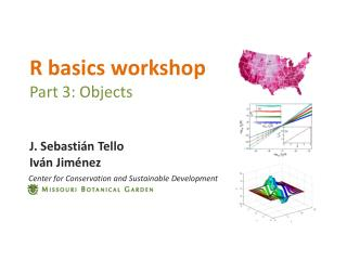 R basics workshop Part 3: Objects