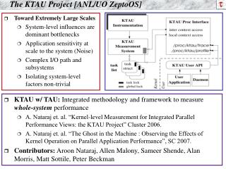 The KTAU Project [ANL/UO ZeptoOS]