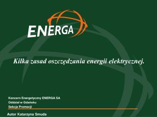 Kilka zasad oszczędzania energii elektrycznej.