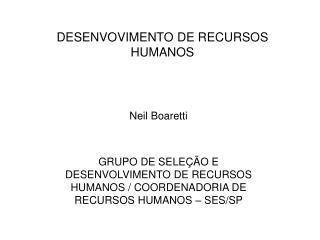 DESENVOVIMENTO DE RECURSOS HUMANOS